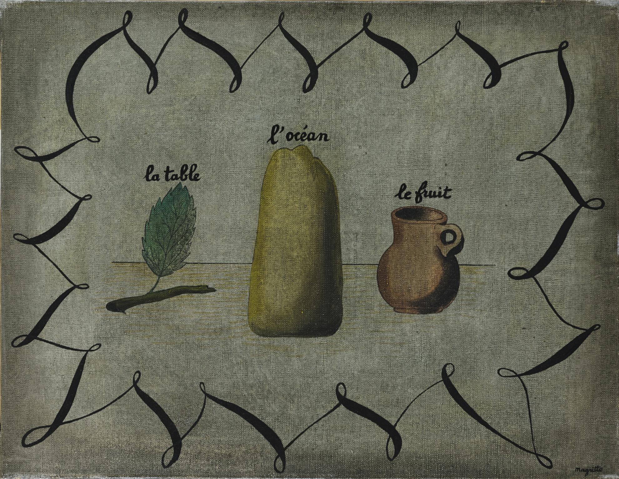Rene Magritte-La Table, Locean Et Le Fruit-1927