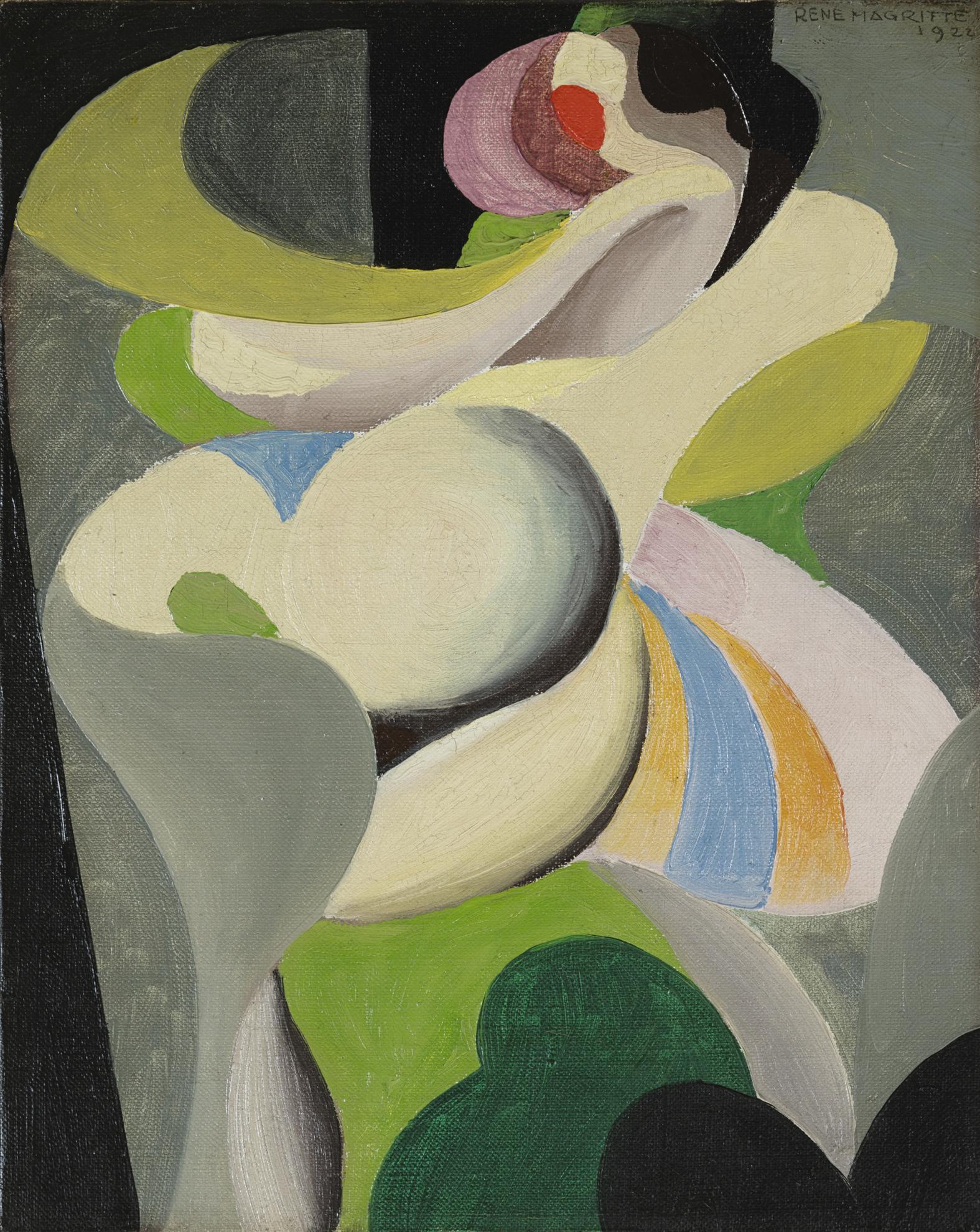 Rene Magritte-Dancer-1922