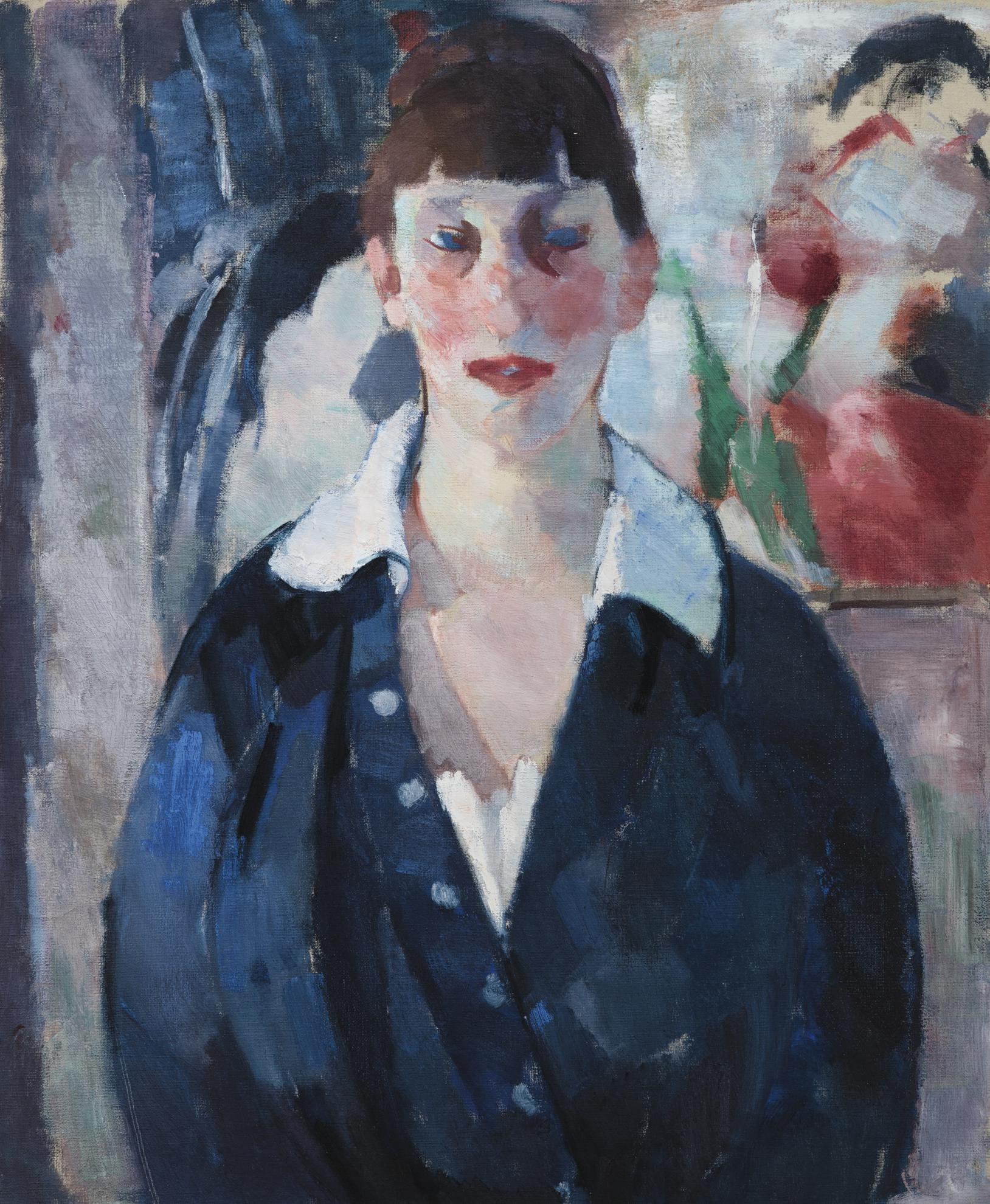 Rik Wouters-Portrait De Femme, Blouse Bleue-1915