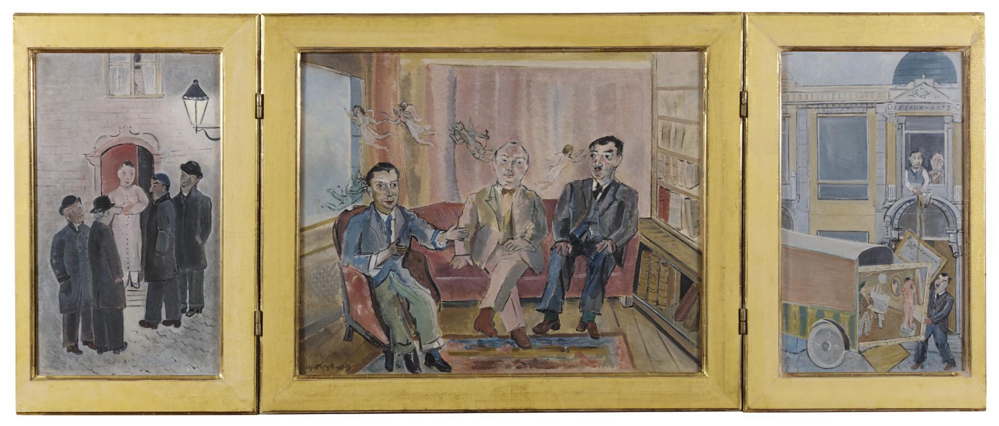 Edgard Tytgat-La Chute Des Anges Gardiens, Triptyque (Les Messieurs De Verviers)-1939