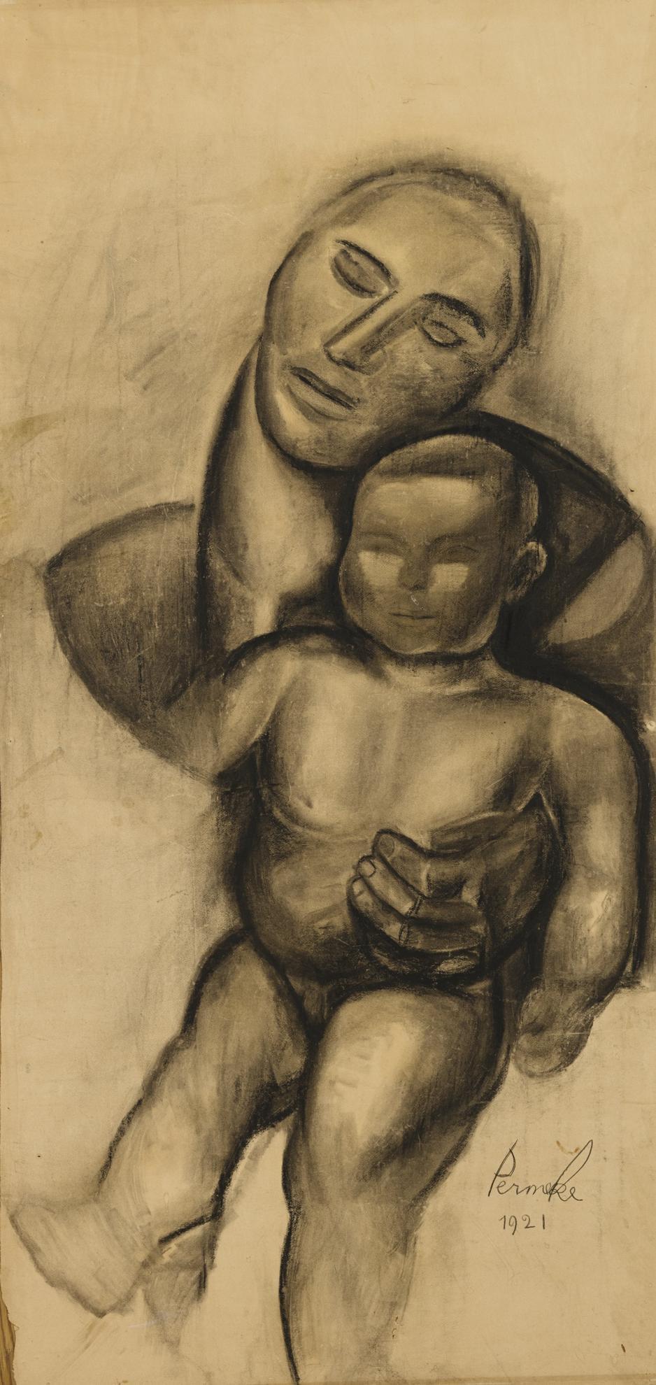 Constant Permeke-Mere Et Enfant-1921