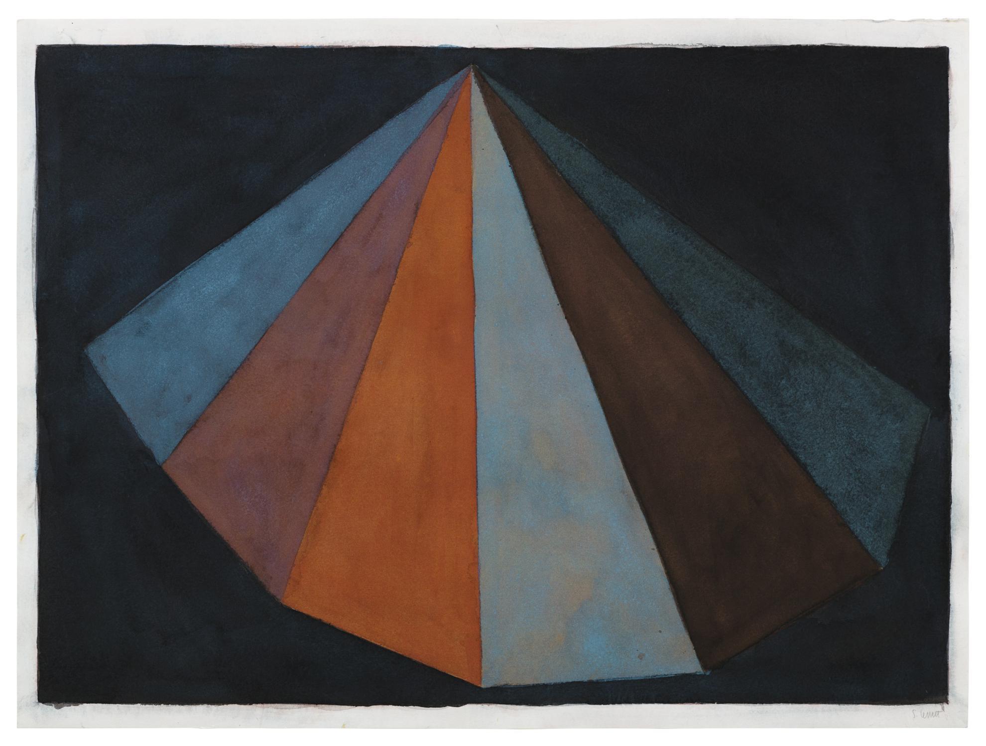 Sol LeWitt-Asymmetrical Pyramid-1986