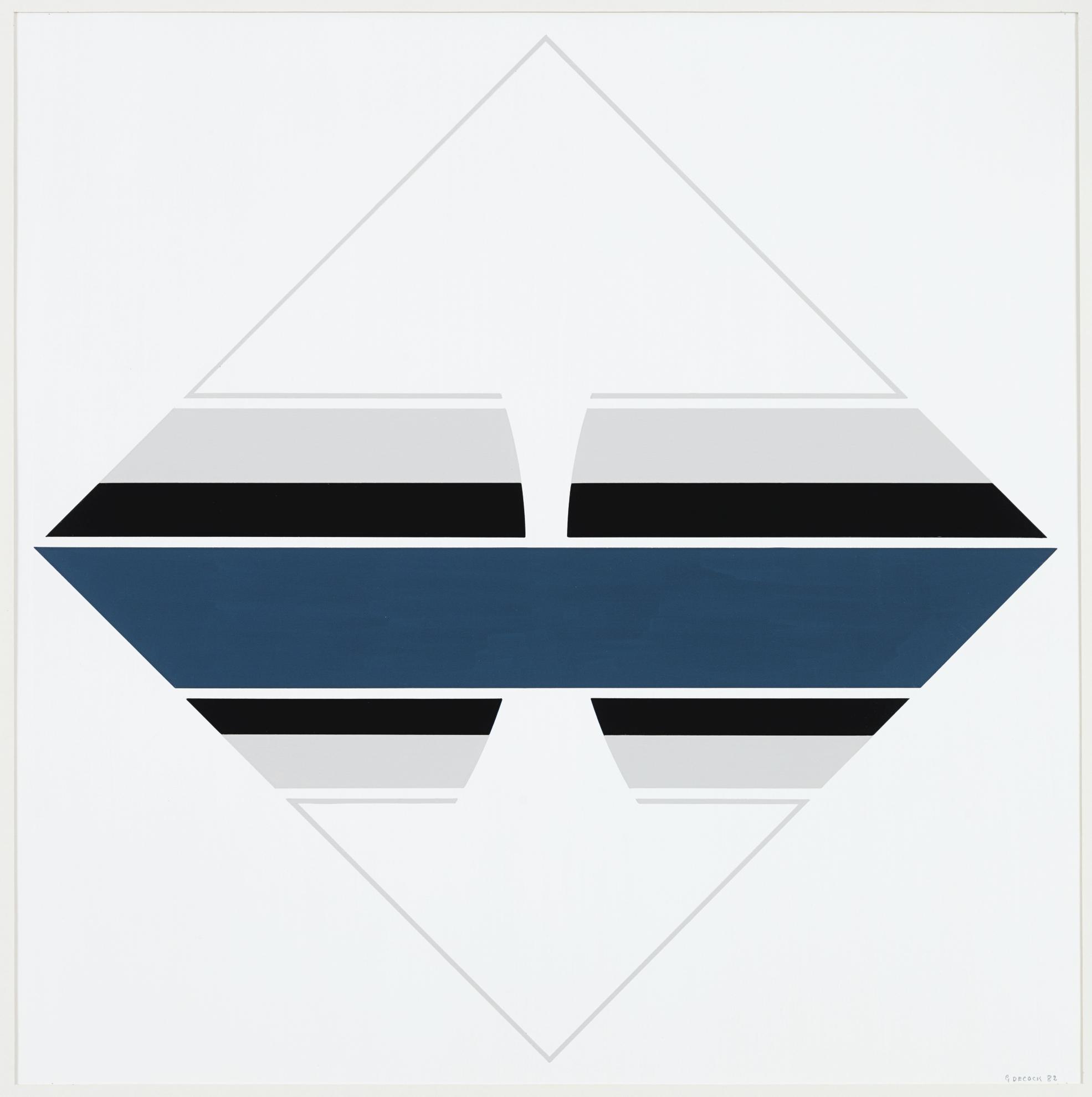 Gilbert Decock-Composition Abstraite DPXI-XI-1982