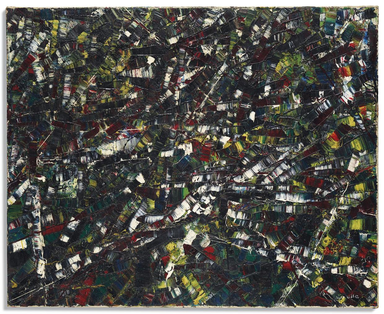 Jean-Paul Riopelle-Black Abstraction-1953