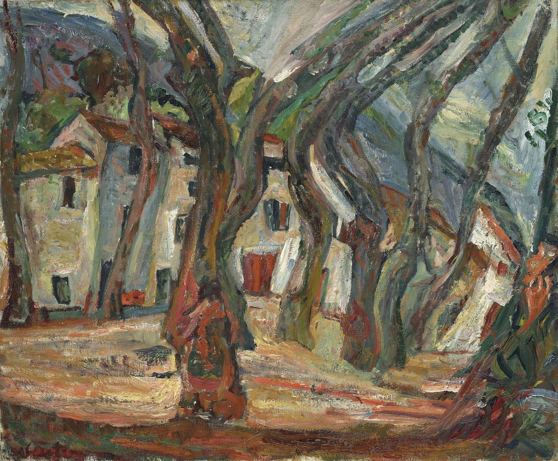 Chaim Soutine-La Place De La Liberte A Ceret-1919