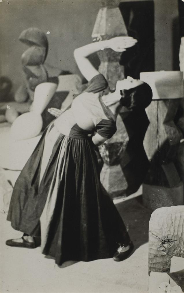 Constantin Brancusi-Lizica Codreano Dansant Dans Latelier De Brancusi-1922
