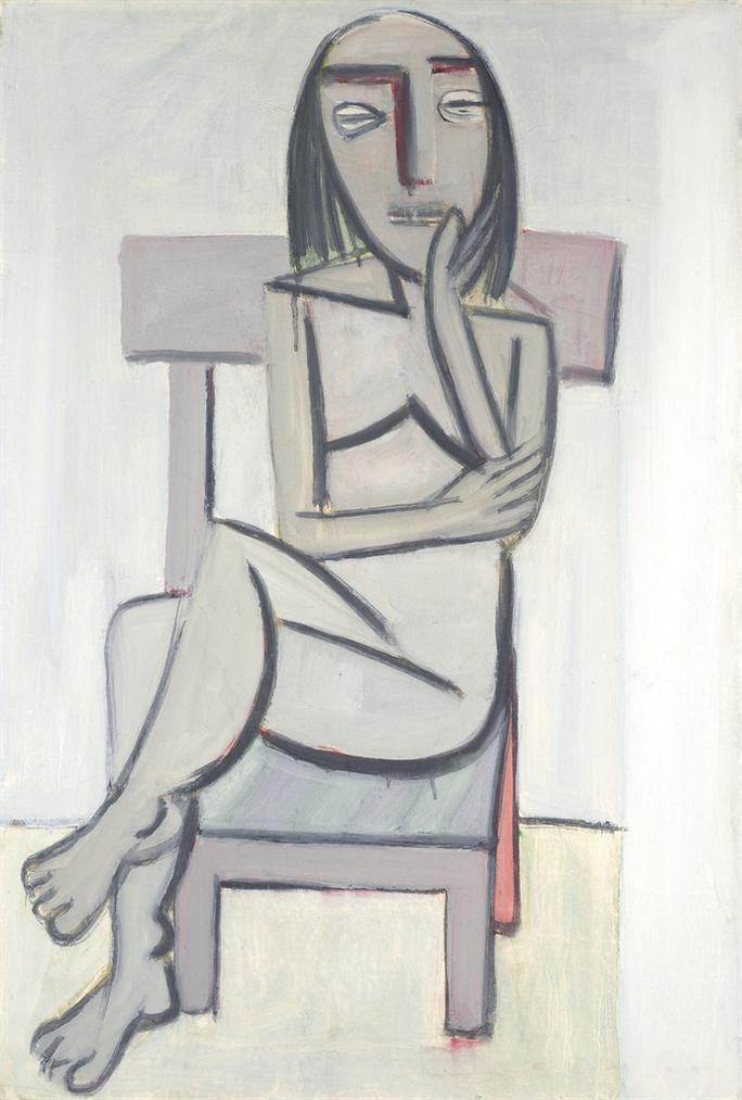Wifredo Lam-Femme Assise-1938
