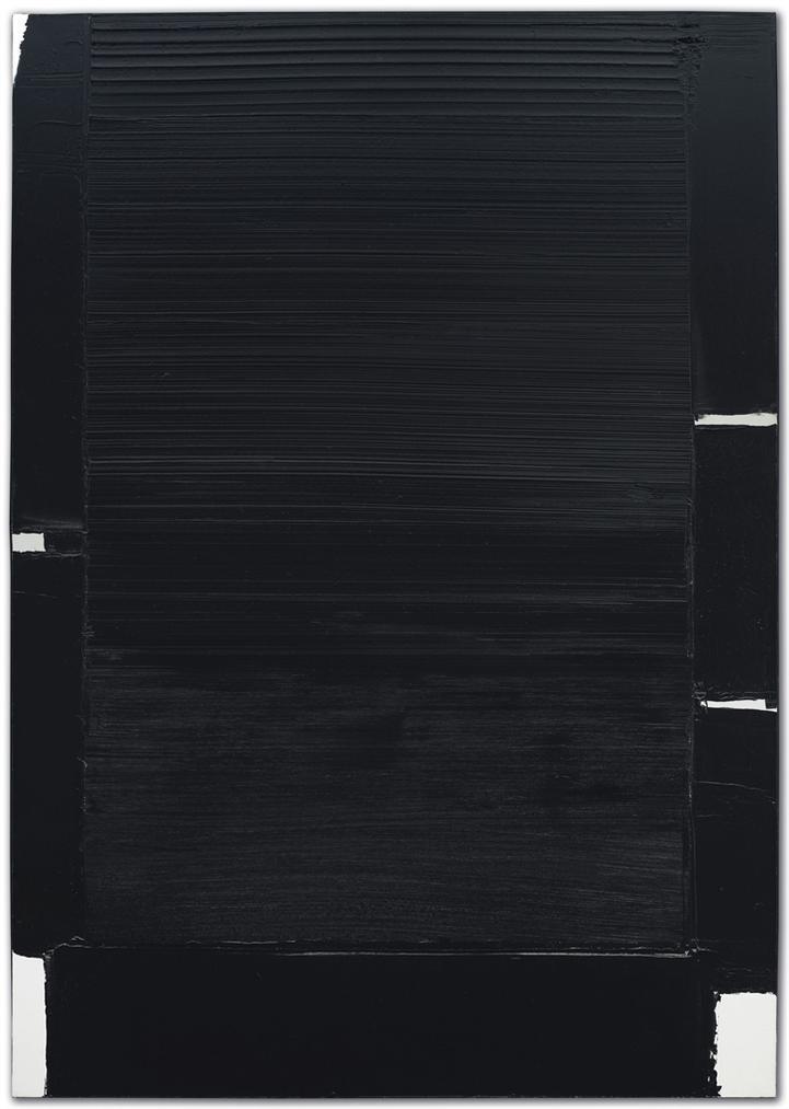 Pierre Soulages-Peinture 162 X 114 Cm, 9 Septembre 2004-2004
