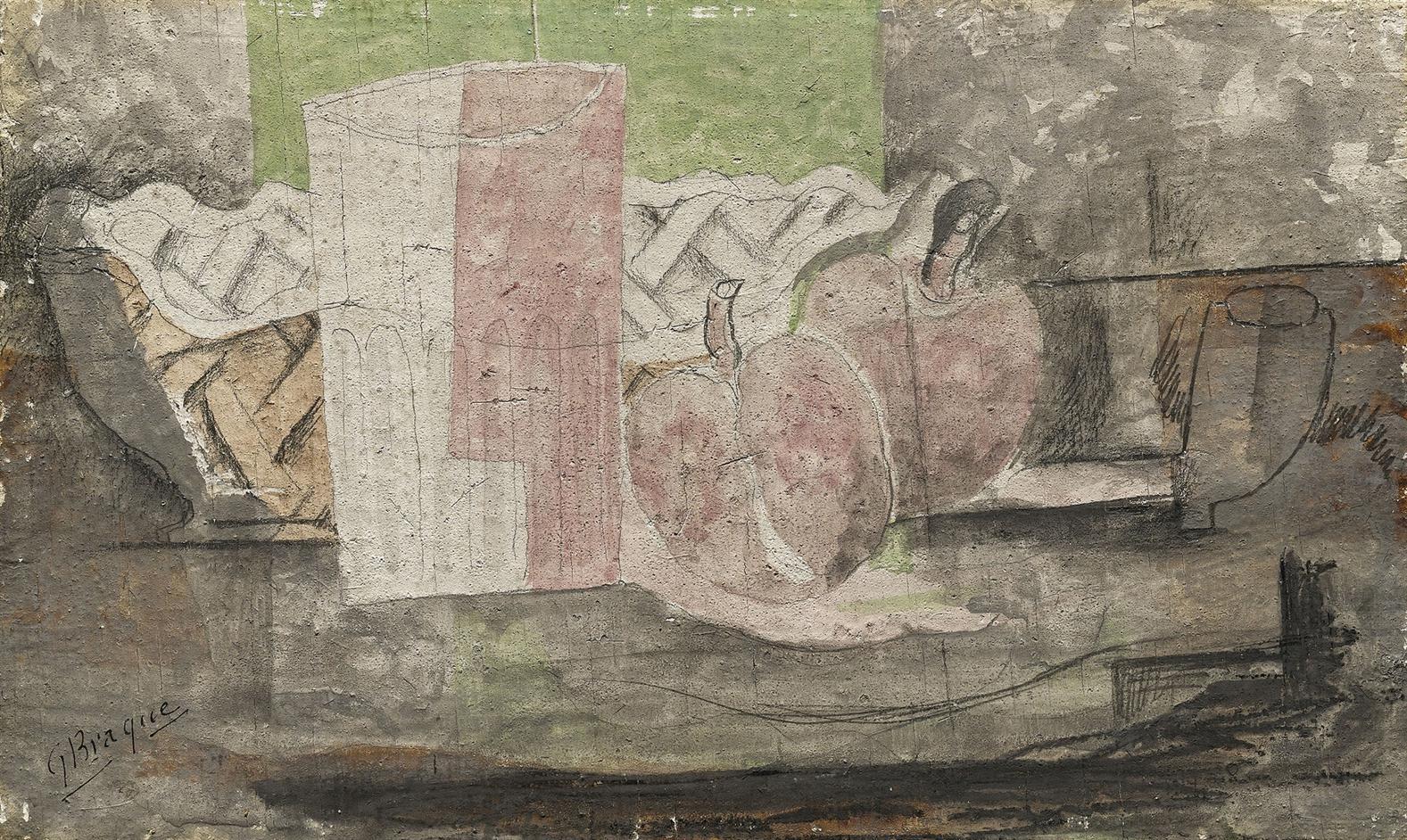 Georges Braque-Nature Morte Aux Pommes-