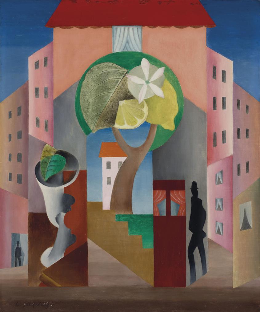 Leopold Survage-Architectures A La Double Silhouette De Guillaume Apollinaire-1917
