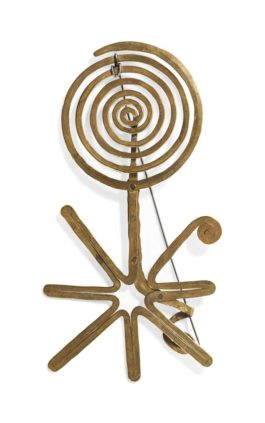 Alexander Calder-Spiral And Star Brooch-1939
