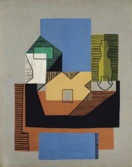 Pablo Picasso-Guitare, Bouteille Et Compotier-1922