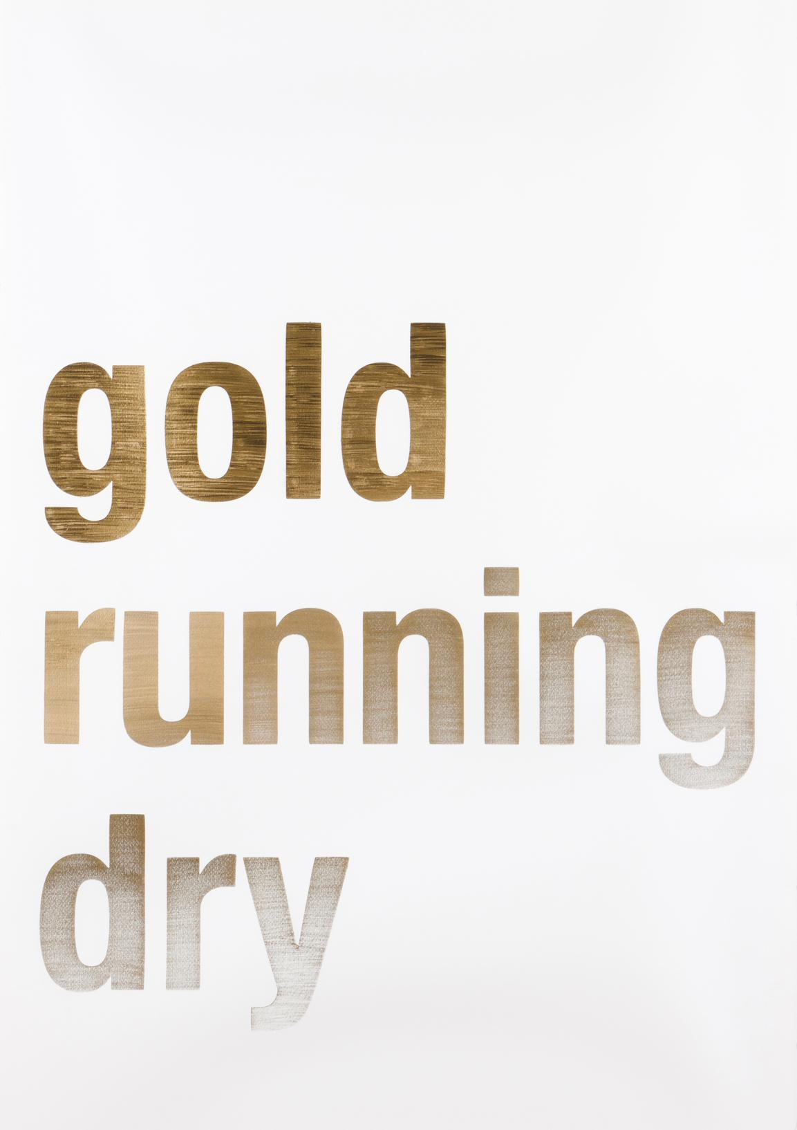 Joao Onofre - Untitled (Gold Running Dry)-2007