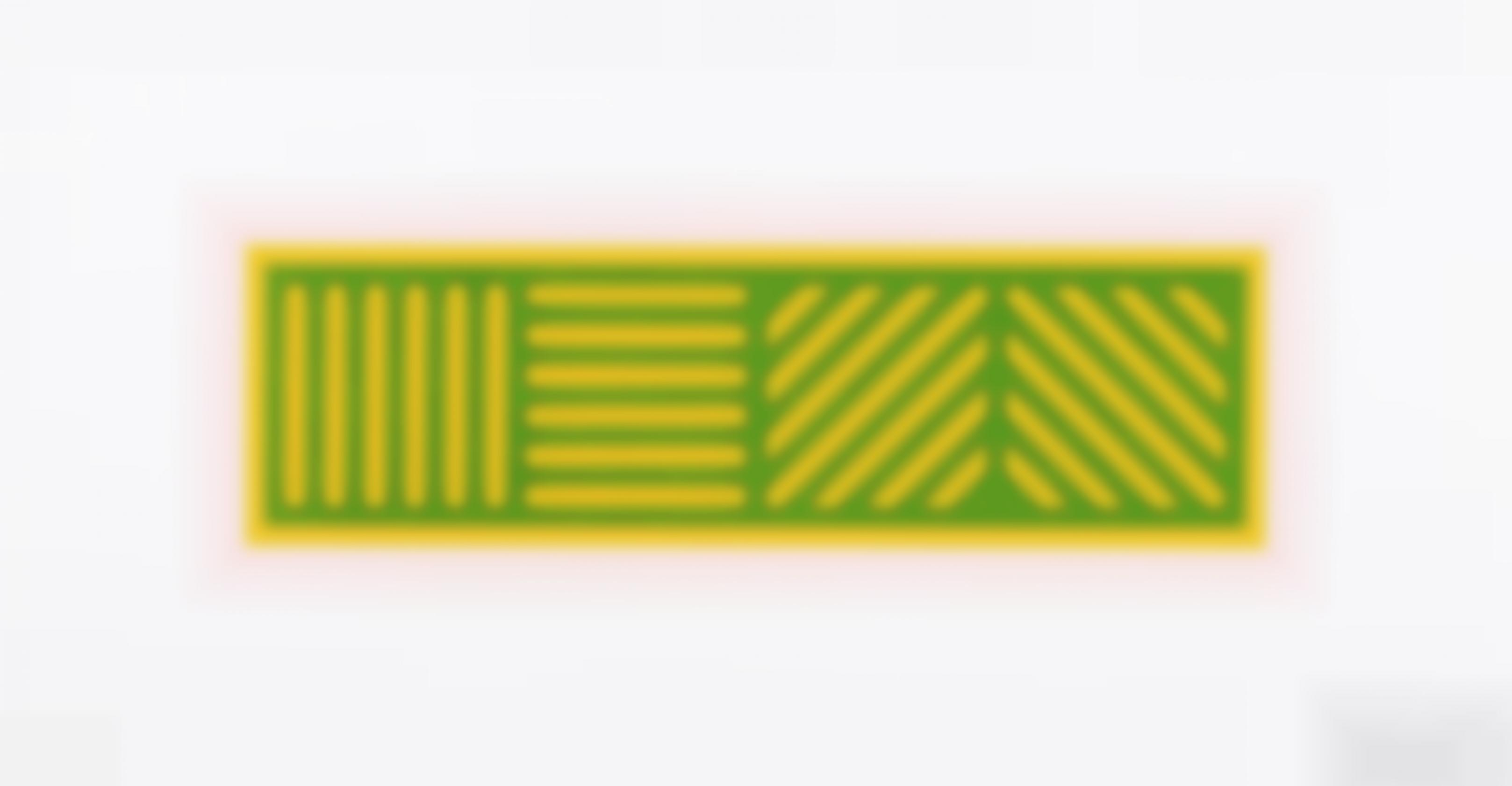 Sol LeWitt-Lines In Four Directions In Color On Color, Plate #1-2005
