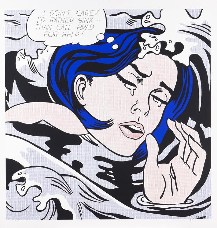 Roy Lichtenstein-Drowning Girl-1963