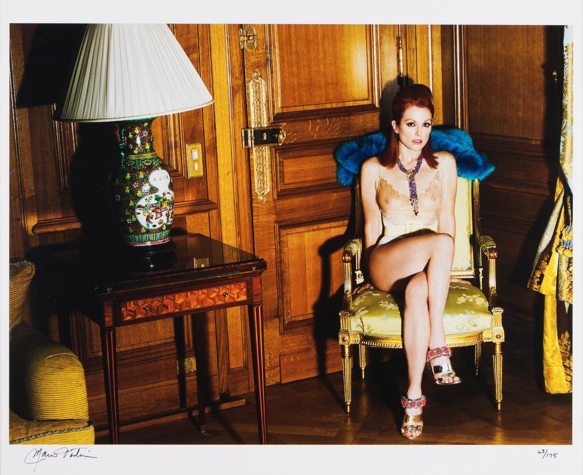 Mario Testino-Julianne Moore At The Crillon Hotel, Paris-2008