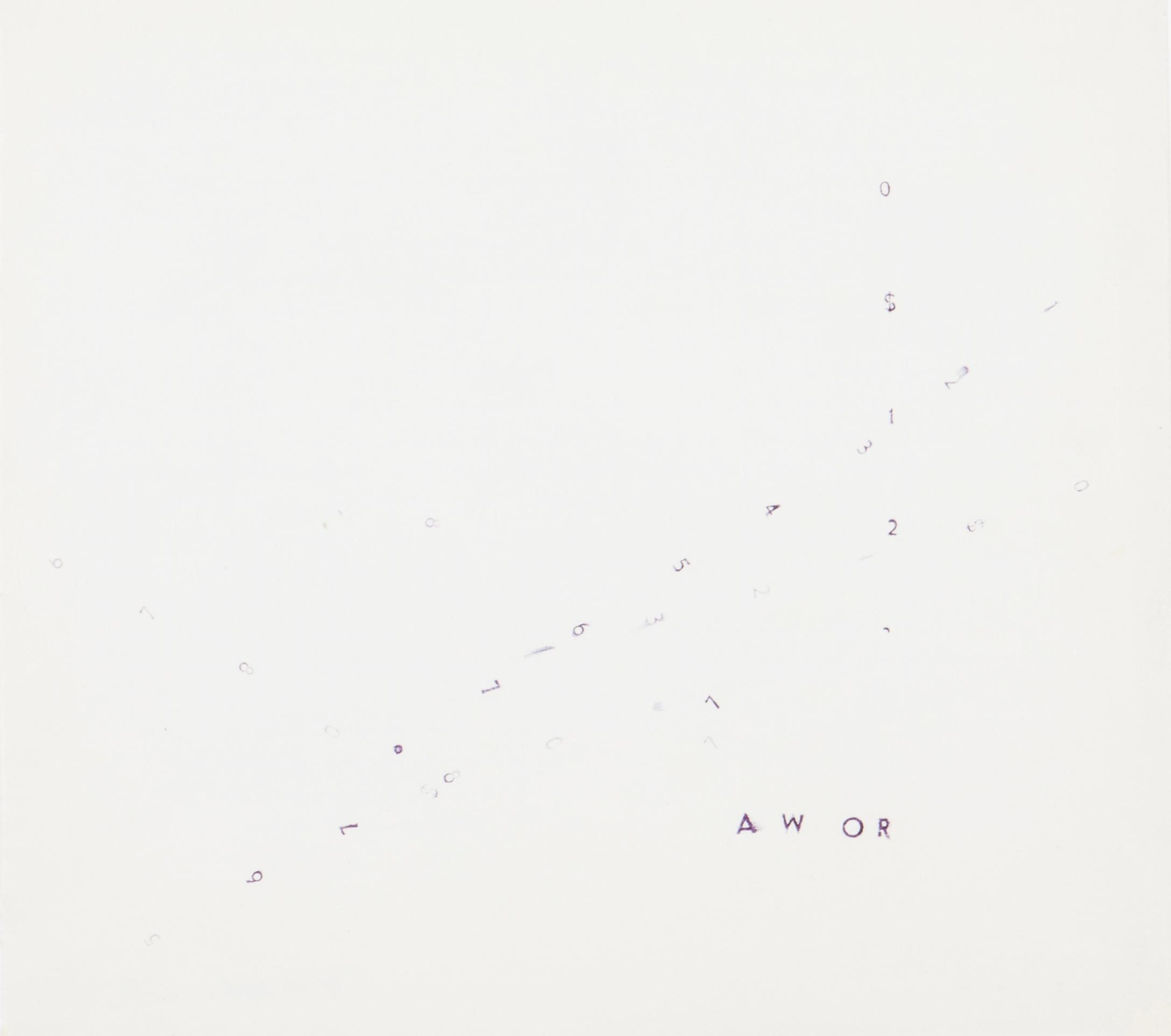 E. M. De Melo E Castro - Untitled (Awor)-