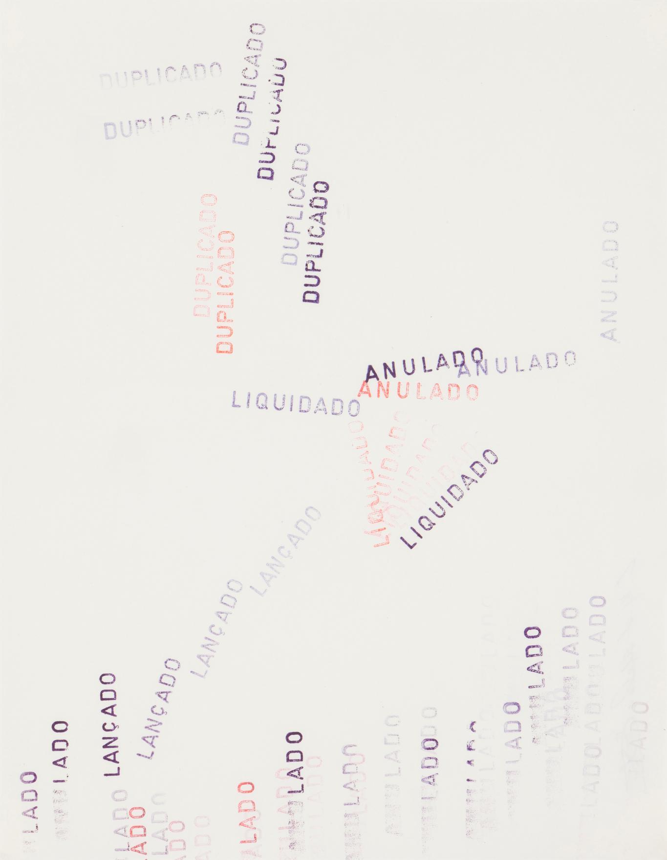 E. M. De Melo E Castro - Untitled (Anulado Lancado Liquidado Duplicado)-