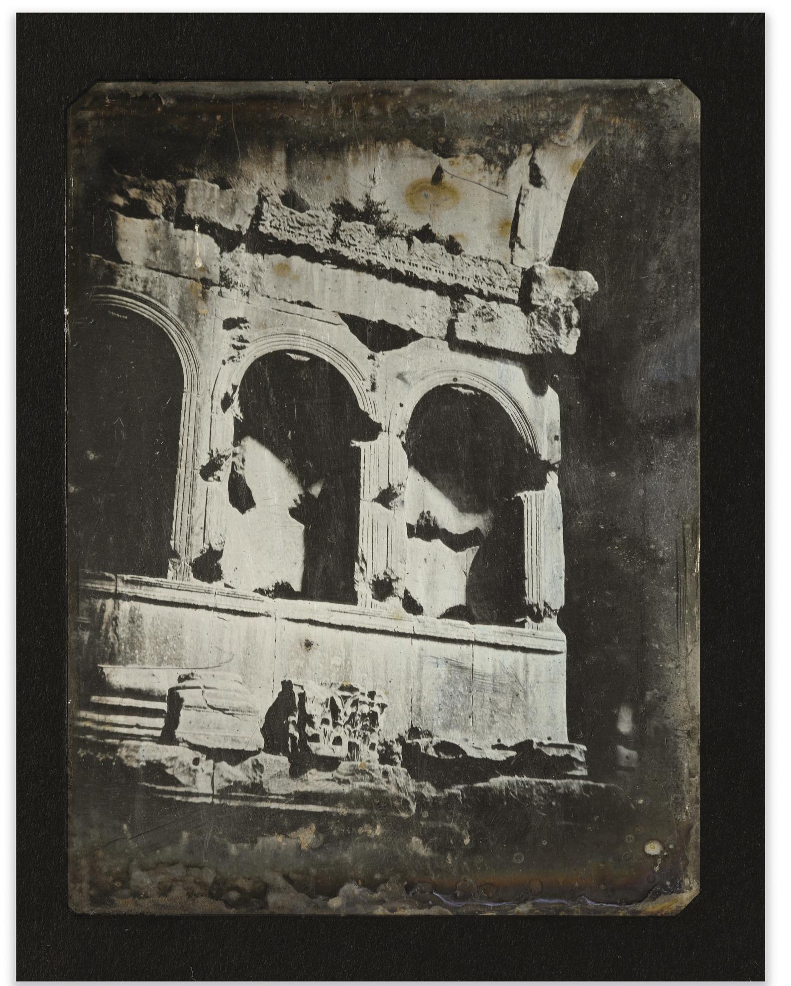 Joseph Philibert Girault De Prangey - 59. Rome, Arc De Janus, Details-1842