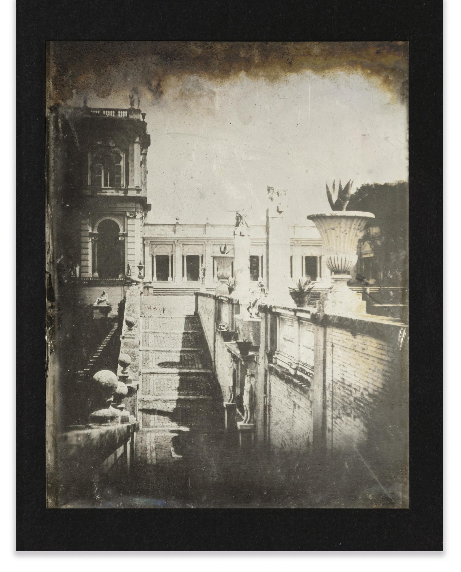 Joseph Philibert Girault De Prangey - 66. Rome, Via Albani, Escalier Du Jardin-1842