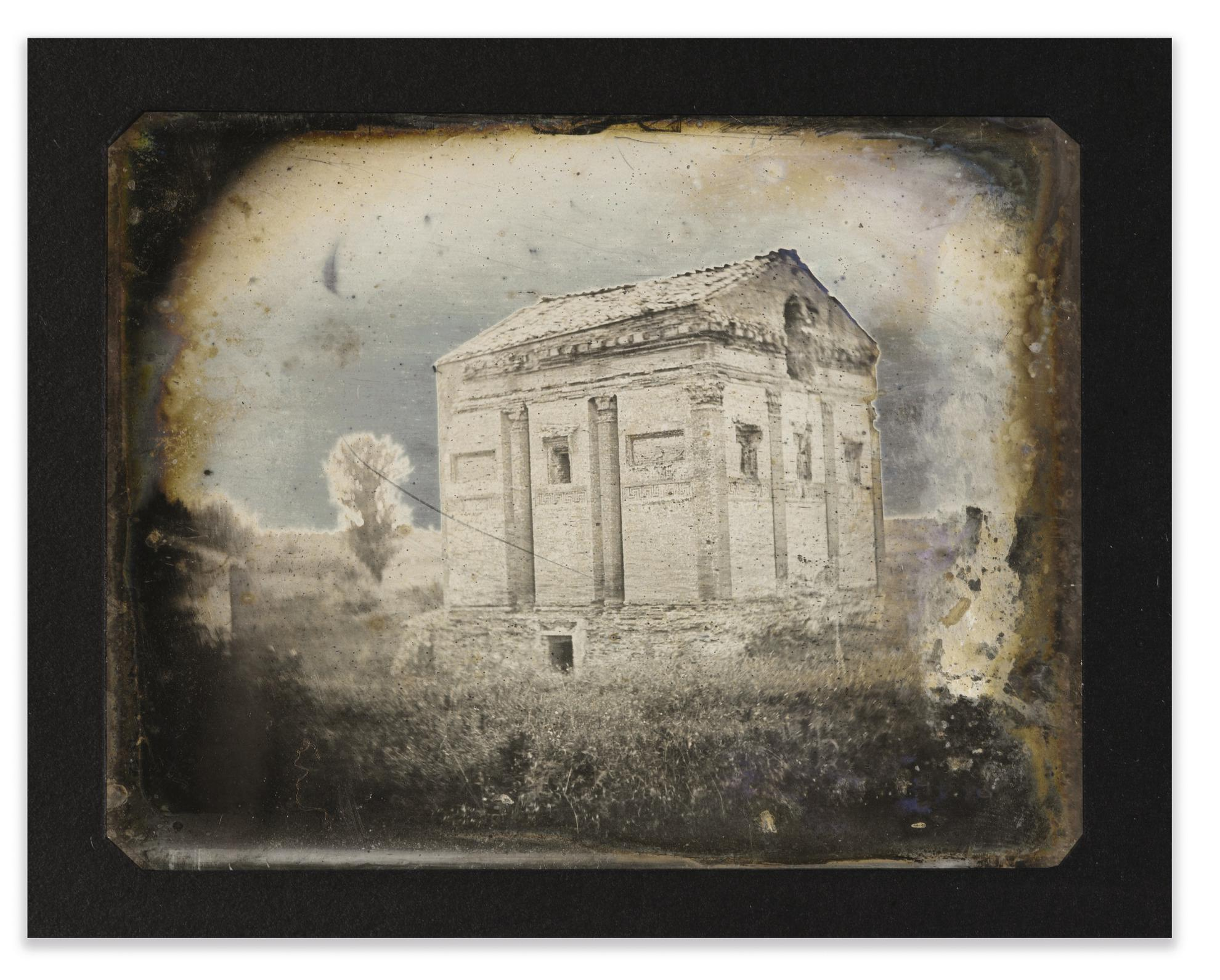 Joseph Philibert Girault De Prangey - 69. Pres De Rome, Temple Del Dio Redicolo-1842