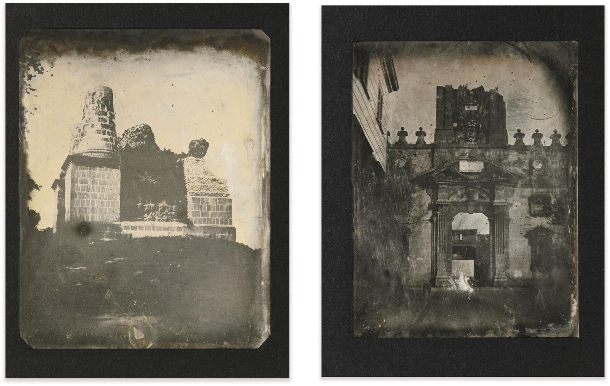 Joseph Philibert Girault De Prangey - 85. Tombeau, Albano; Porta Pia, Rome-1842