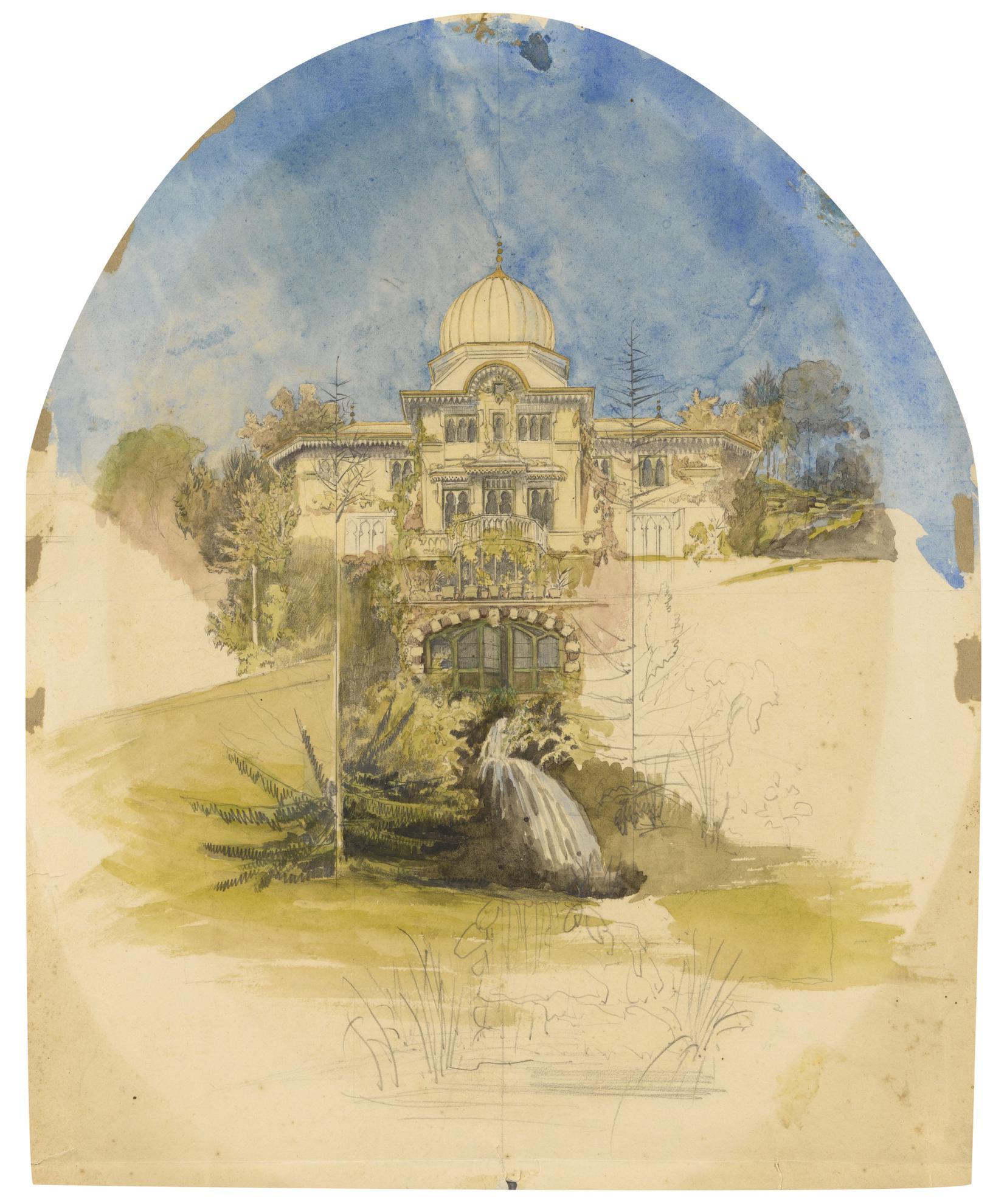 Attribue A Joseph-Philibert Girault De Prangey - La Villa Des Tuaires-