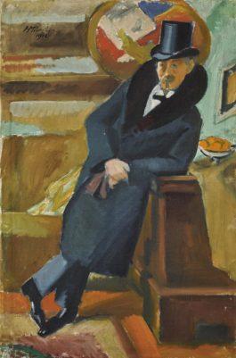 Max Pechstein-Mannerbildnis: Bruno Schneidereit (Portrait Of A Man: Bruno Schneidereit)-1912