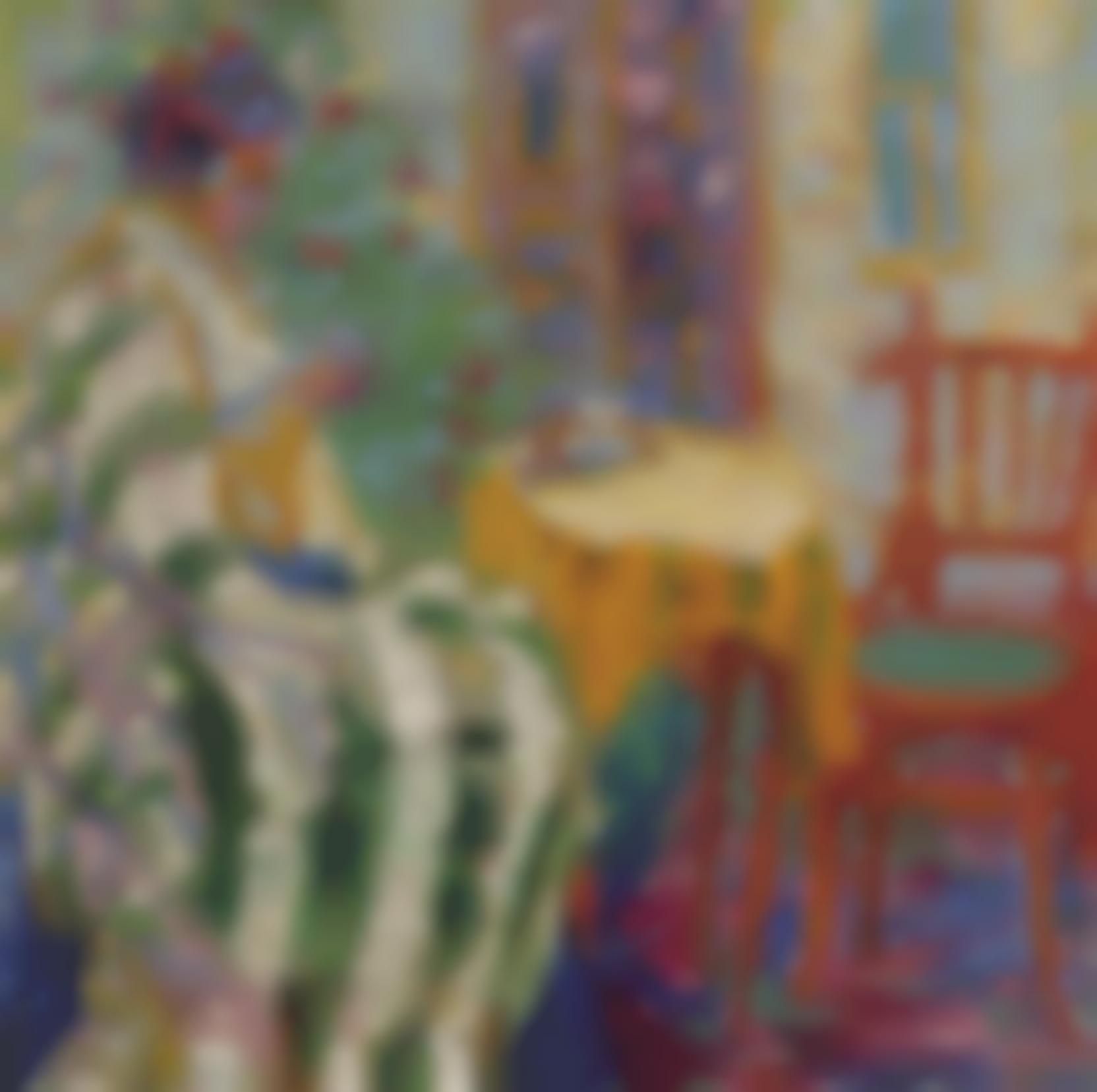Emil Nolde-Frau Am Kleinen Tisch (Woman At A Small Table)-1906