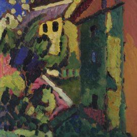 Wassily Kandinsky-Treppe Zum Schloss (Steps To The Castle)-1909
