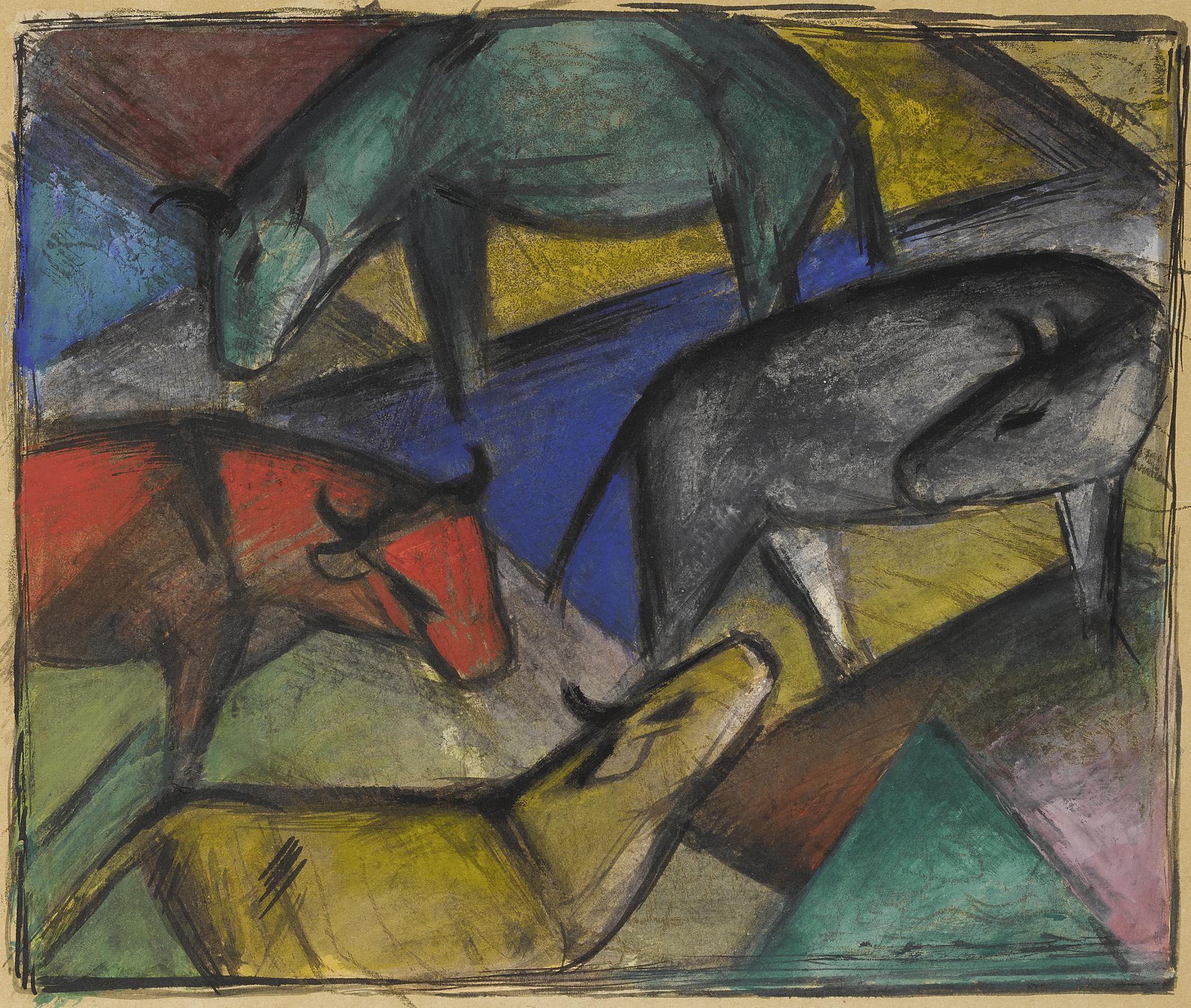 Franz Marc-Kuhe (Cows)-1912