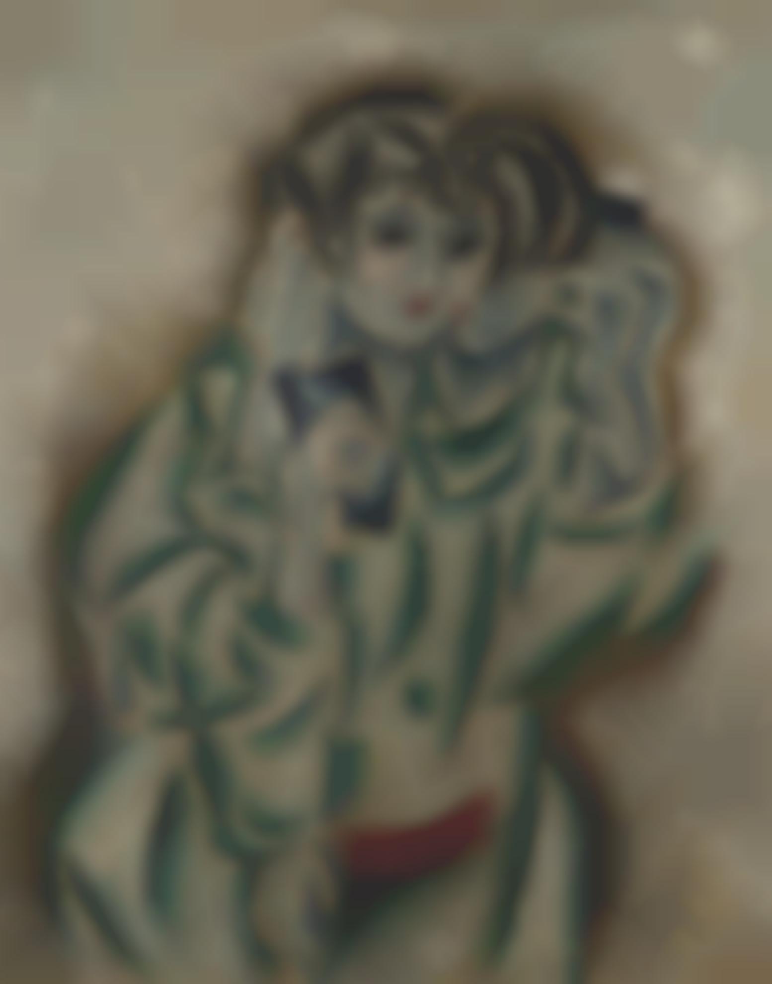 Tsuguharu Foujita-Femme Cubiste-1914