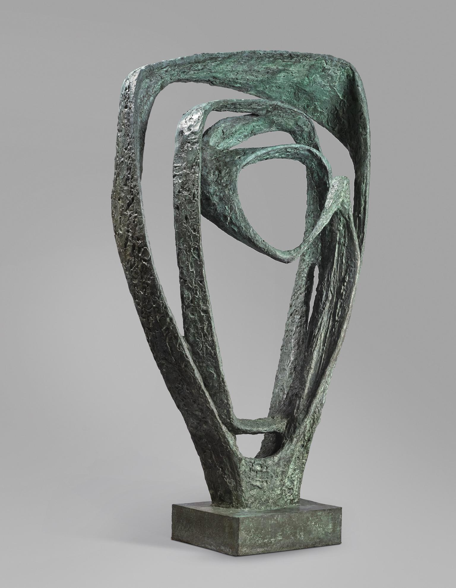 Barbara Hepworth-Garden Sculpture (Model For Meridian)-1960