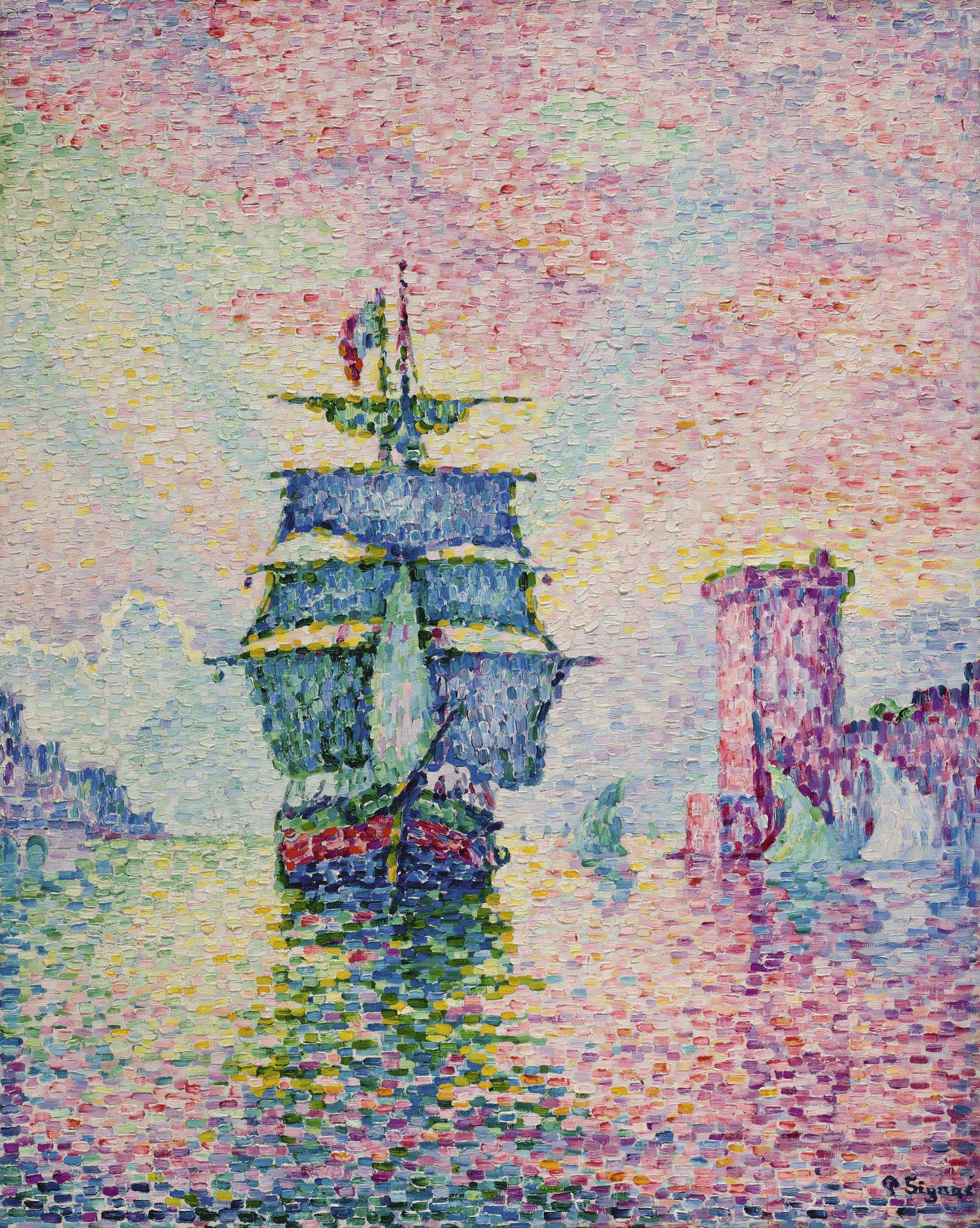 Paul Signac-La Passe De Marseille-1911