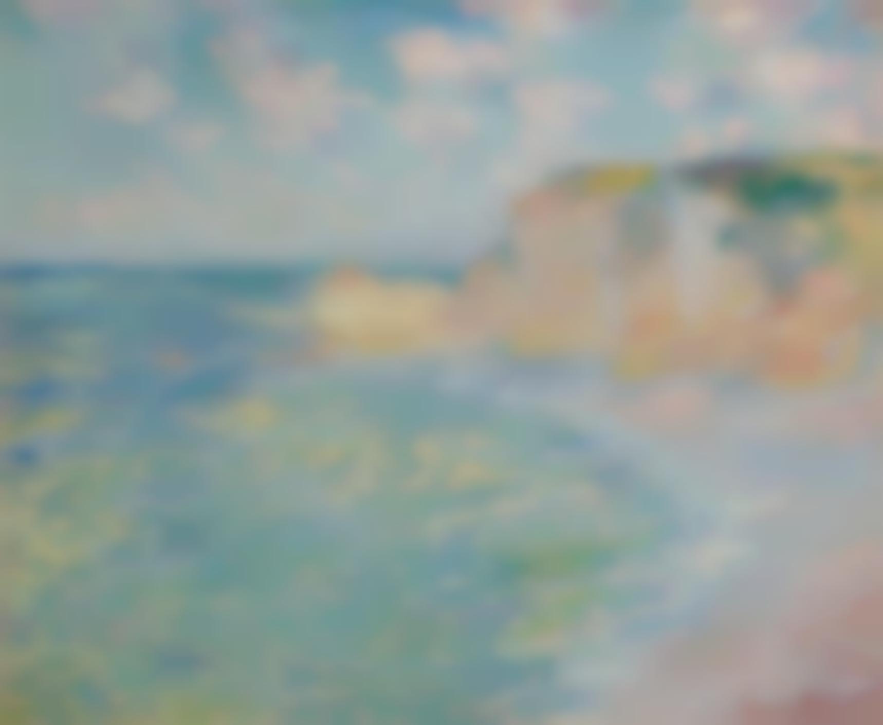 Claude Monet-La Falaise Damont-1885