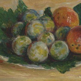 Claude Monet-Prunes Et Abricots-1885