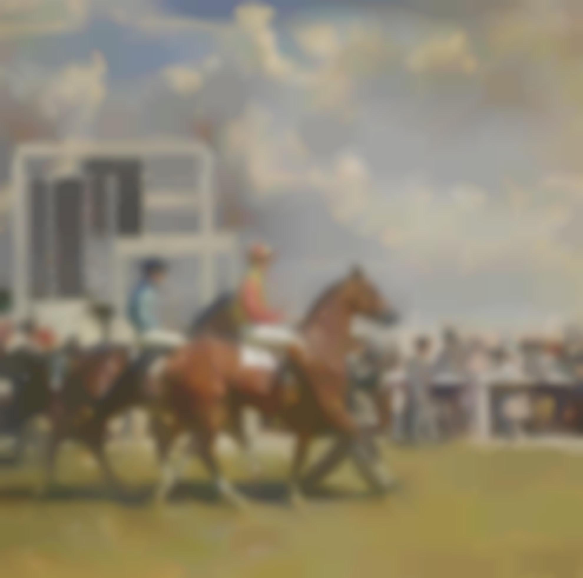 Sir Alfred James Munnings - Going Out At Epsom-