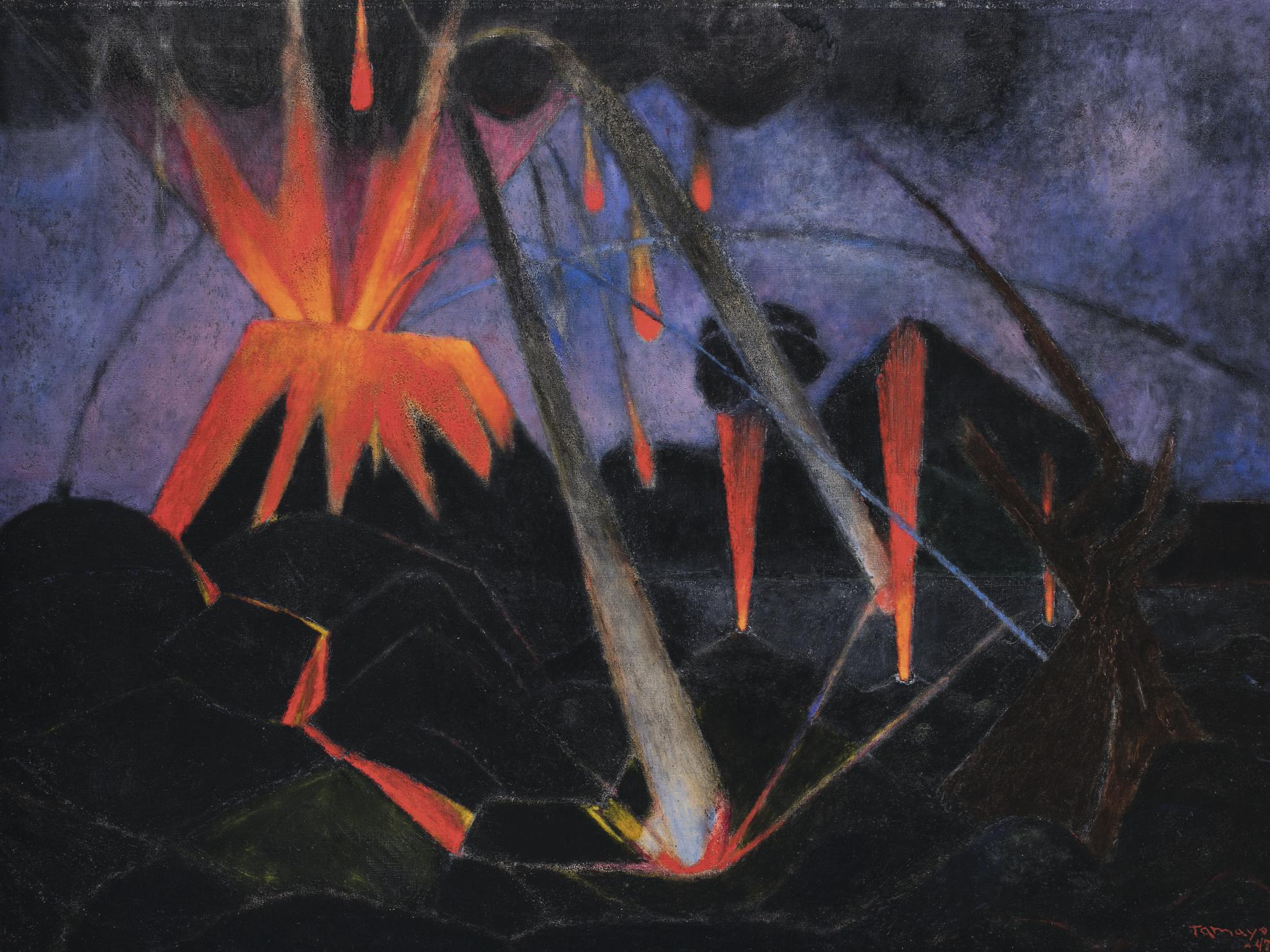 Rufino Tamayo-Paisaje Del Paricutin (Volcan En Erupcion) [Landscape Of El Paricutin]-1947