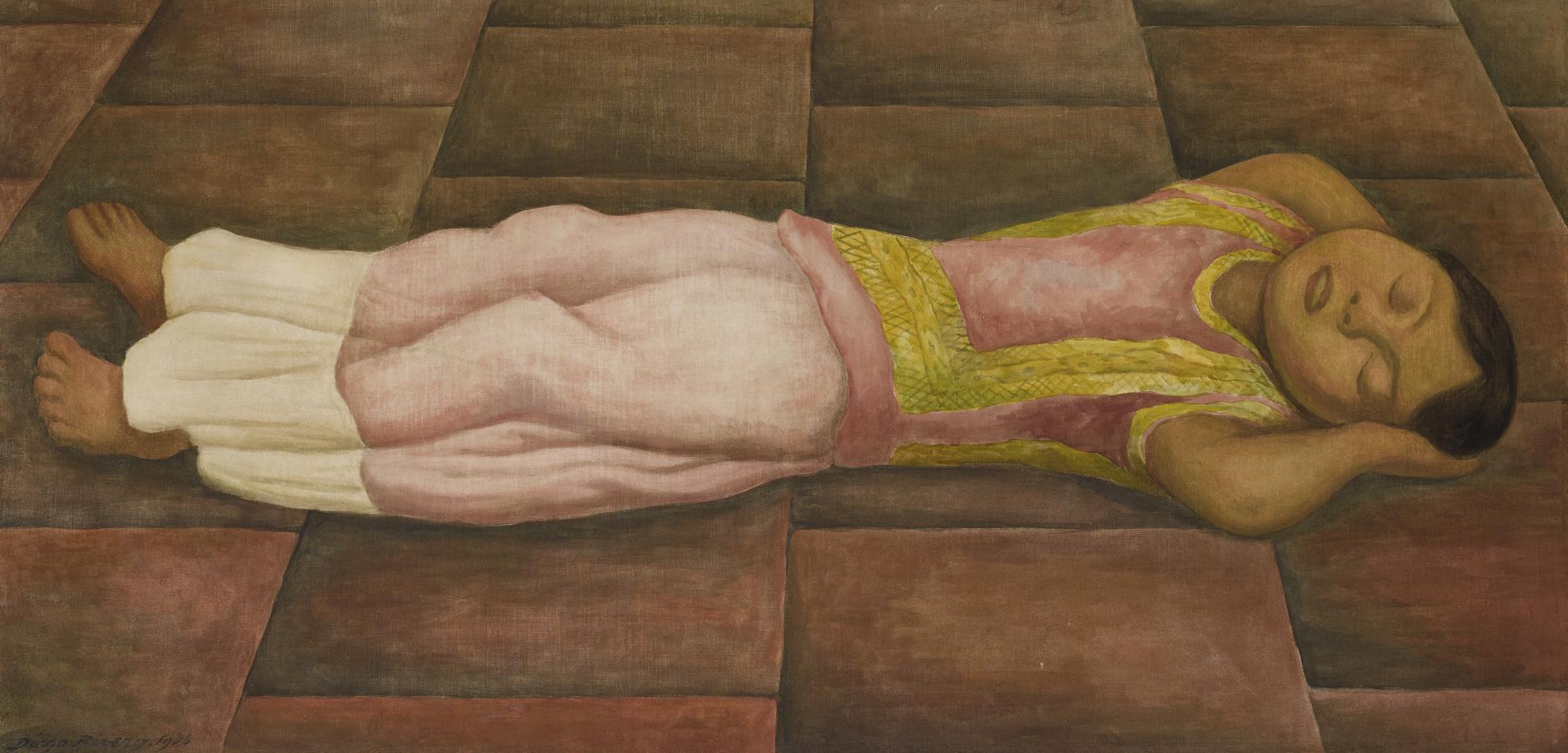 Diego Rivera-El Sueno (La Nina Dormida)-1936