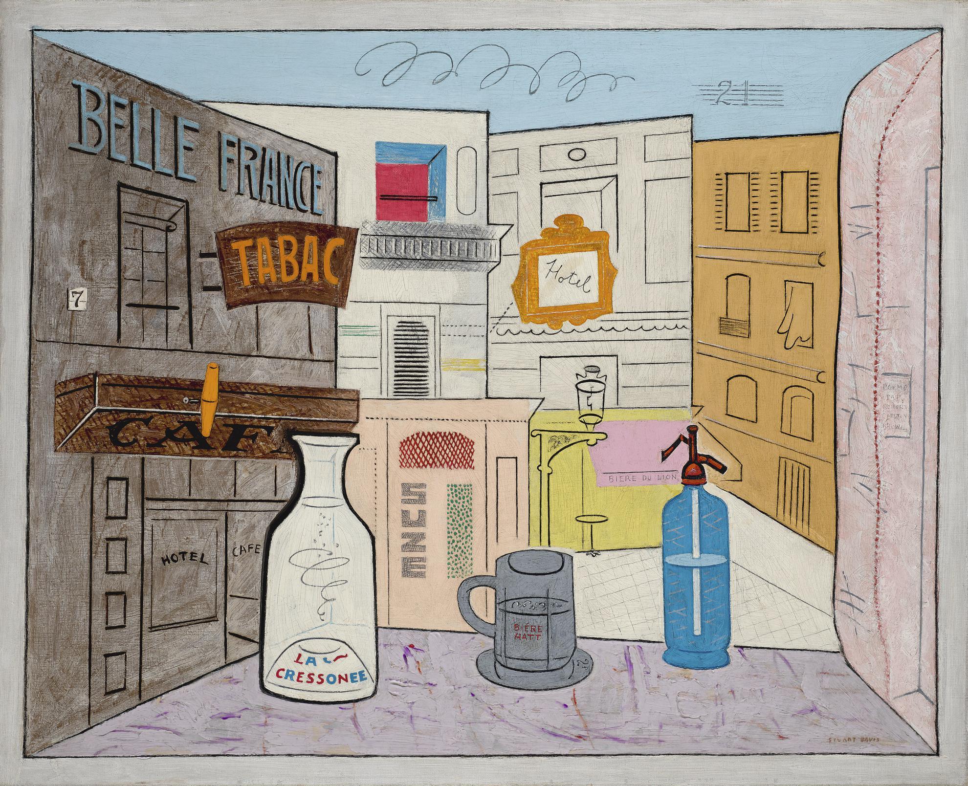 Stuart Davis-Rue Lipp-1928
