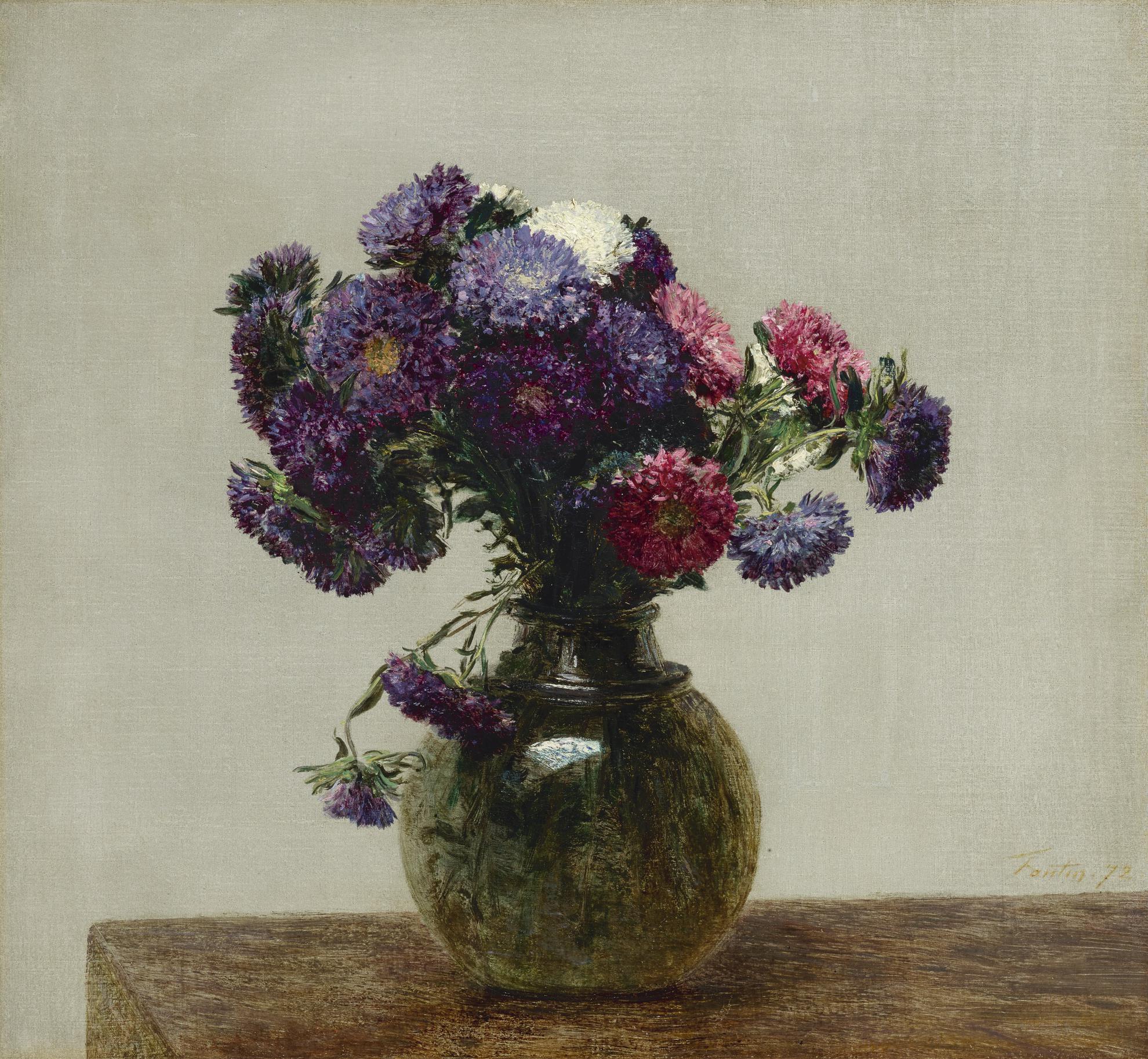 Henri Fantin-Latour-Reines Marguerites-1872