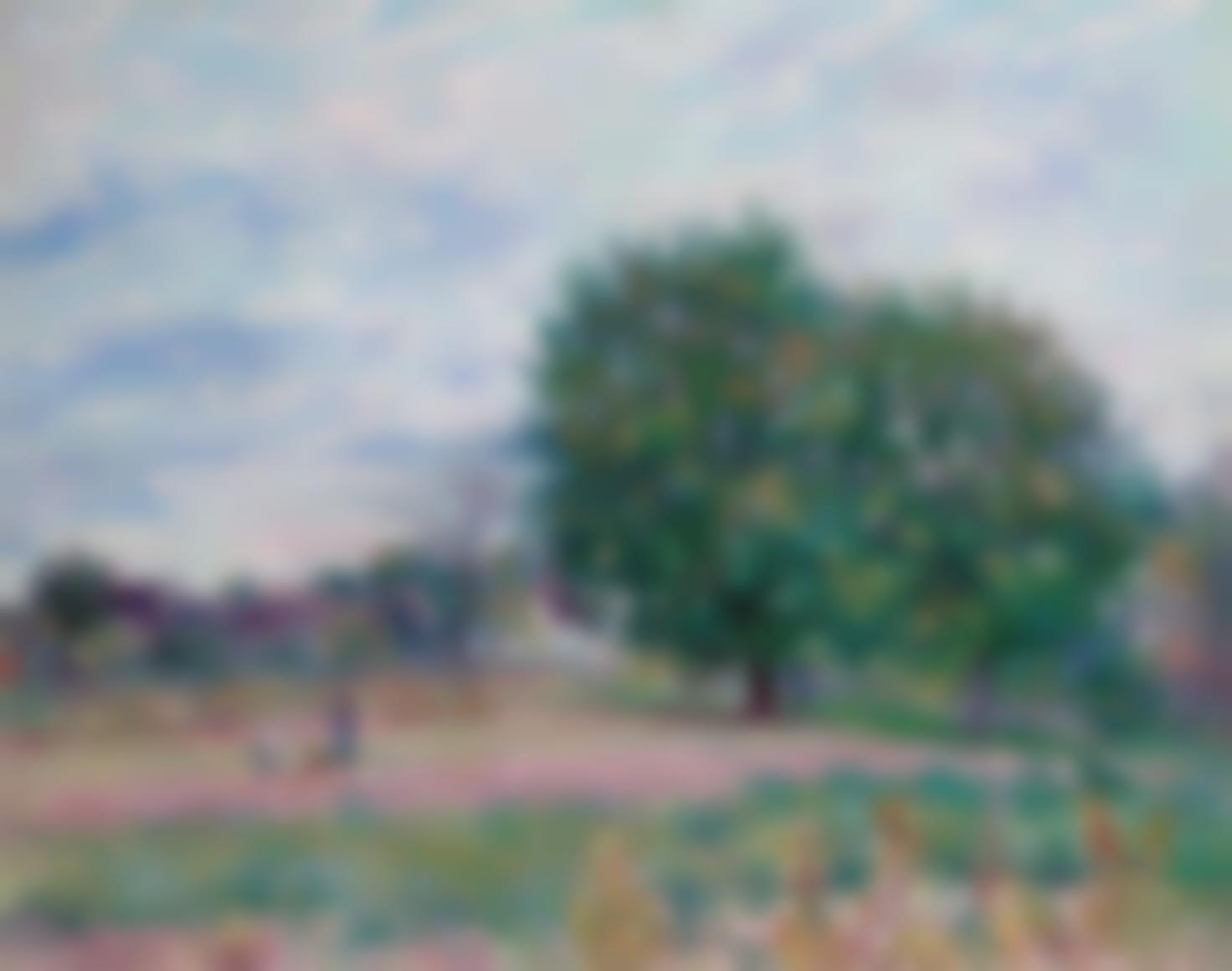 Alfred Sisley-Les Noyers, Effet De Soleil Couchant—Premiers Jours Doctobre-1882