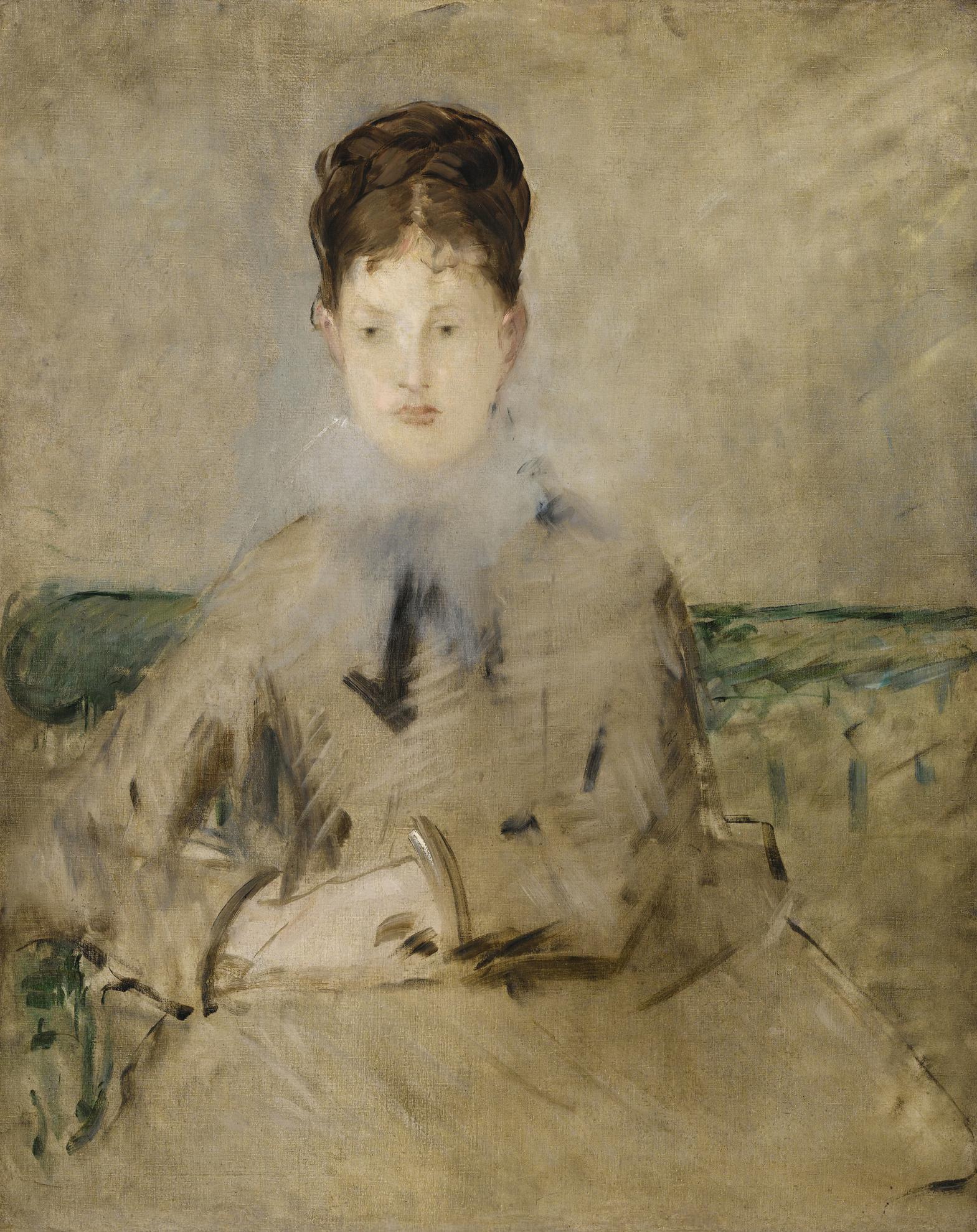 Edouard Manet-Portrait De Madame Jules Guillemet-1880