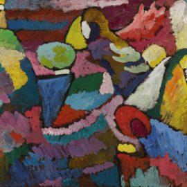 Wassily Kandinsky-Improvisation Auf Mahagoni (Improvisation On Mahogany)-1910