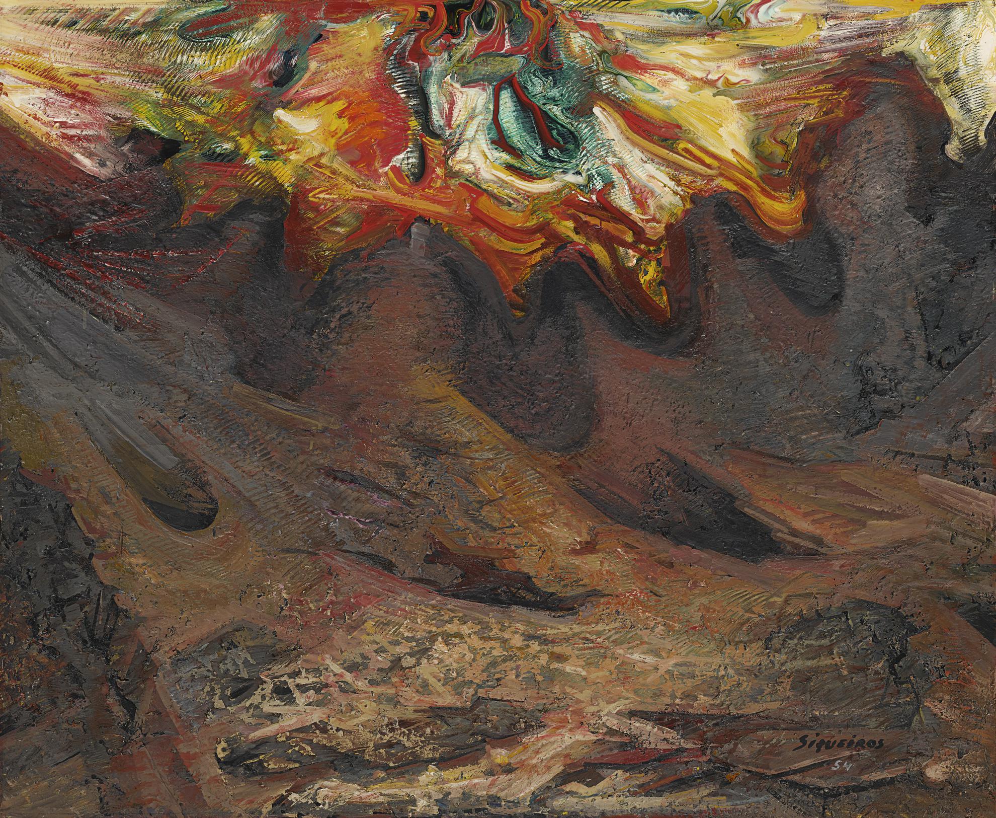 David Alfaro Siqueiros-El Pedregal-1954