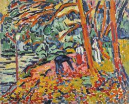 Maurice de Vlaminck-Paysage Au Bois Mort (Ramasseur De Bois Mort)-1906