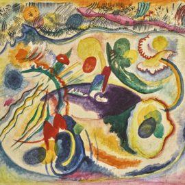 Wassily Kandinsky-Zum Thema Jungstes Gericht (On The Theme Of The Last Judgement)-1913
