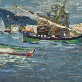 Wassily Kandinsky-Rapallo: Grauer Tag (Rapallo: Grey Day)-1905