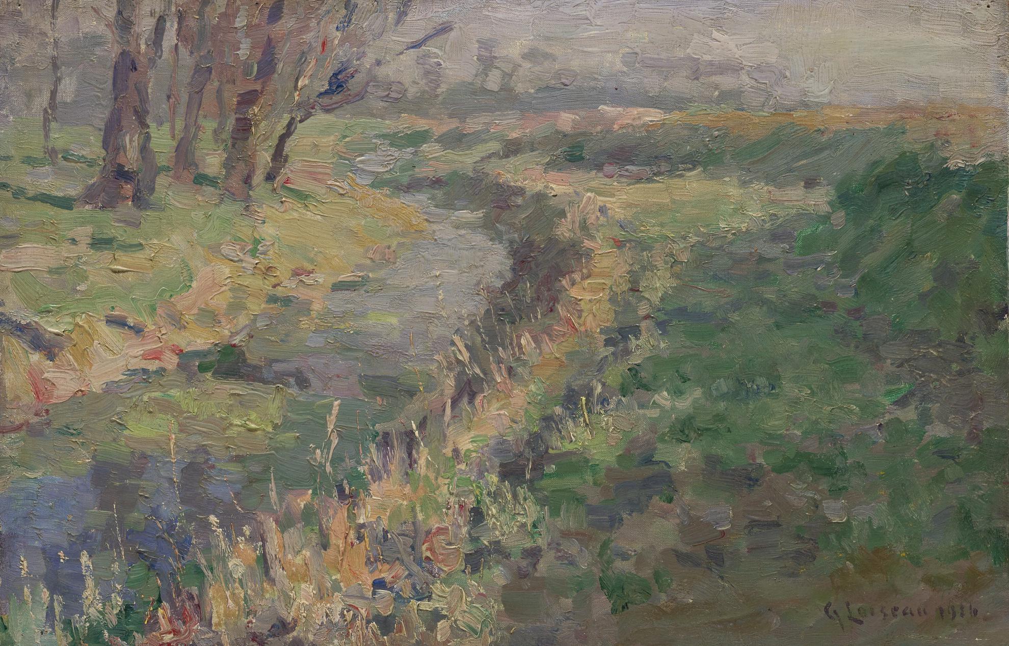 Gustave Loiseau-Paysage Ruisseau Dans La Campagne-1916