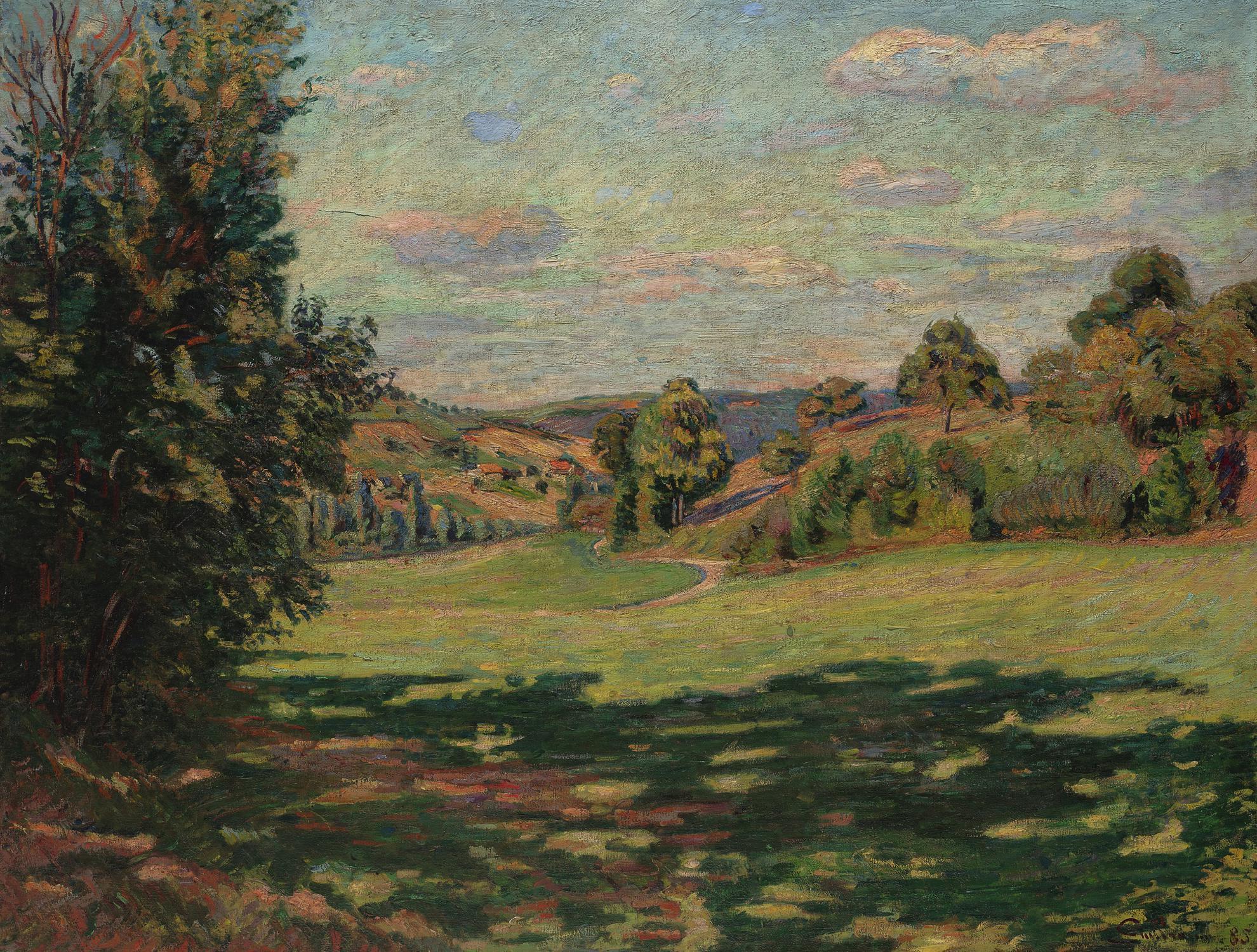 Jean-Baptiste Armand Guillaumin-Village Sur Le Coteau Vallee De Chevreuse-1885